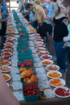 Tomato tasting (first table)