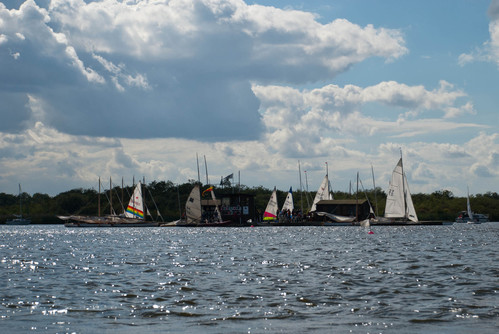 Sailing on Barton Broad