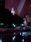 Rainy Philadelphia by night