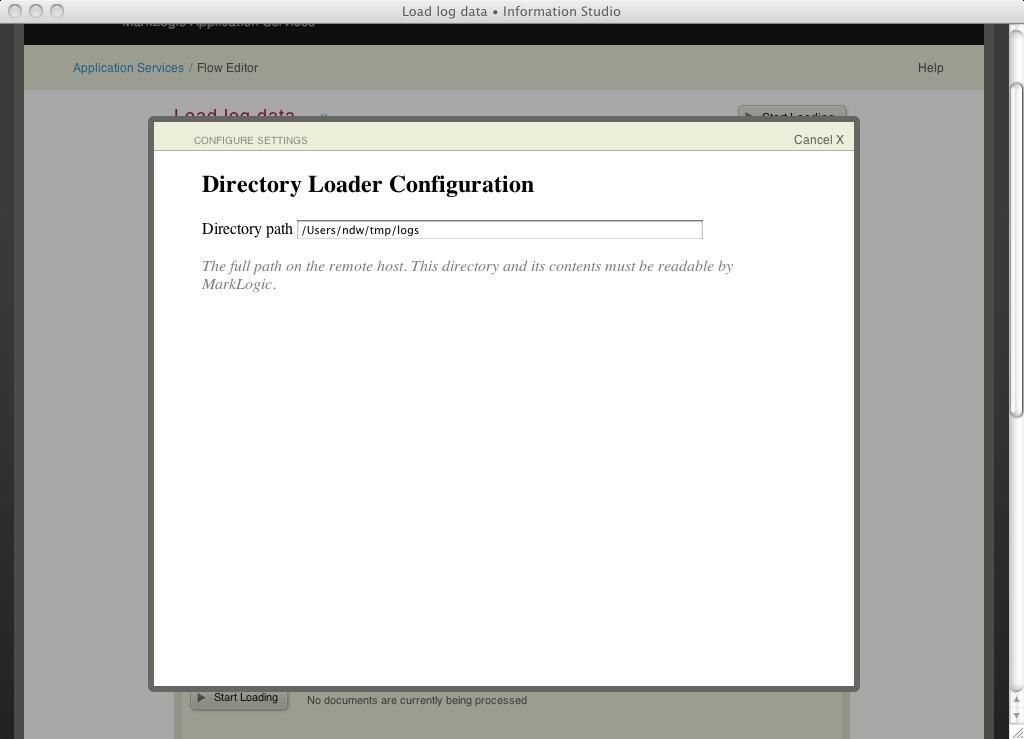 Configuring log loader