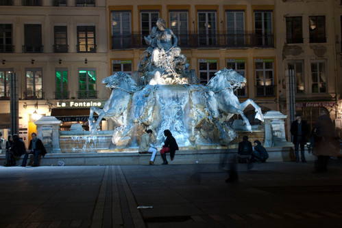 Bartholdi Fountain at the place des Terreaux