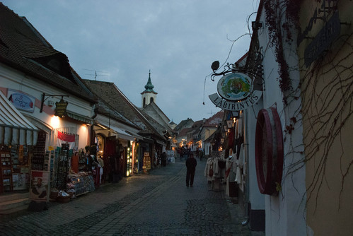 Szentendre at dusk