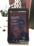 Word clock tablet