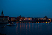 Vltava river from the Charles Bridge
