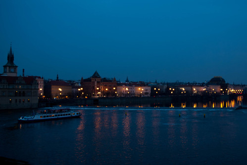 Vltava river from the Charles Bridge
