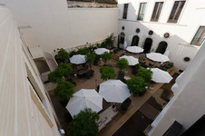 Hotel courtyard view