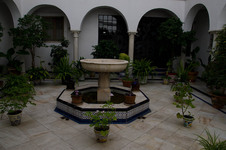 Hotel courtyard fountain