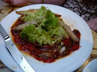 Mackerel and pepper salad