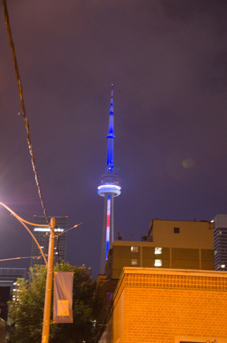 CN Tower by night