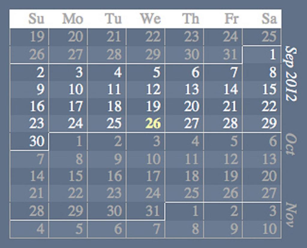 Linear calendars