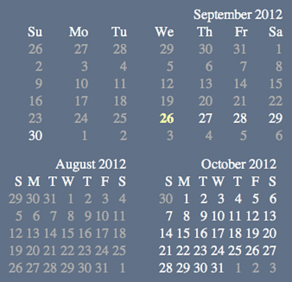 Skeuomorphic calendars