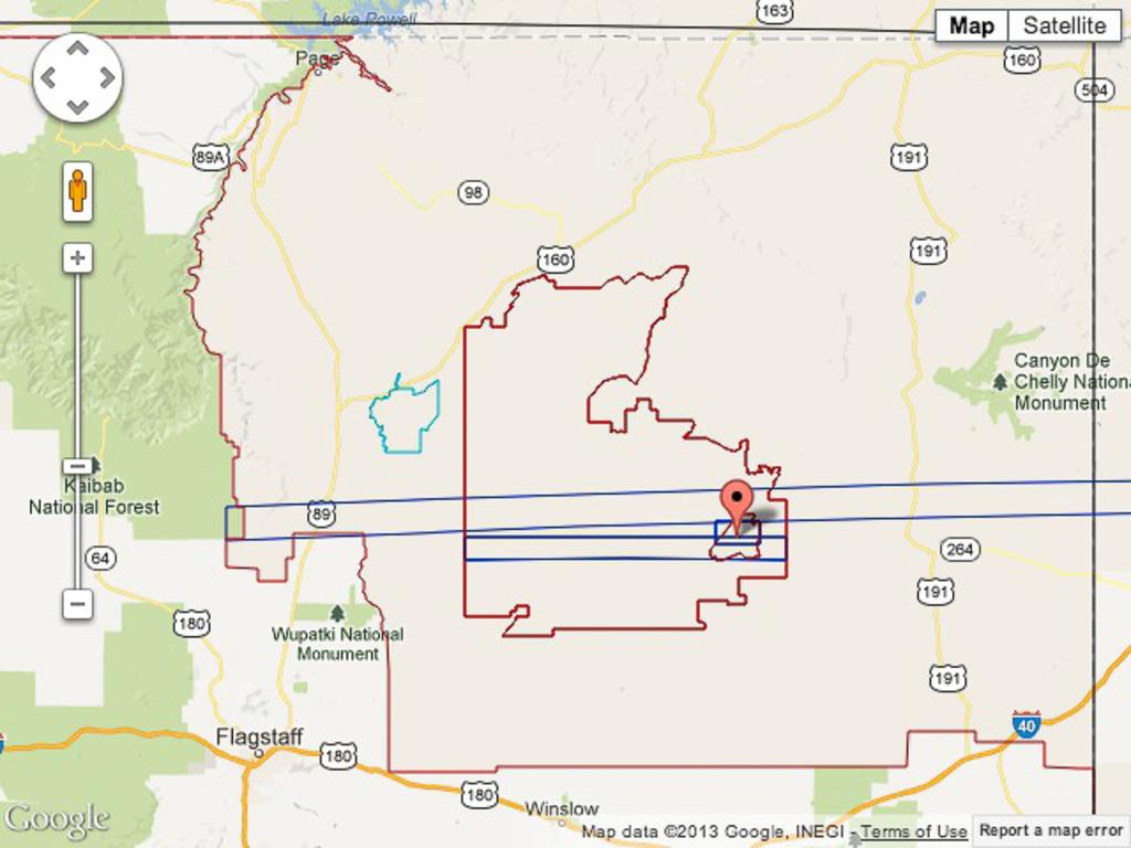 North eastern Arizona (closeup)