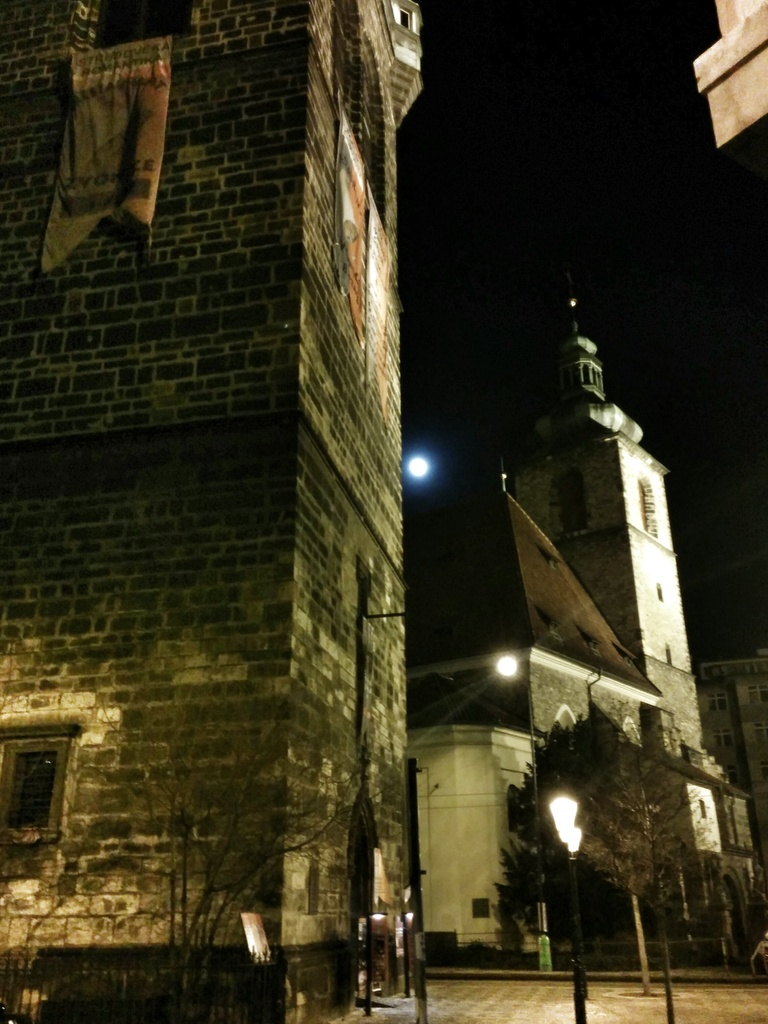 Moon over Prague