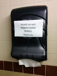 Wipe your hands on your pants!