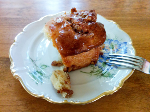 Home made sticky bun