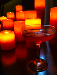 Cocktail with candles
