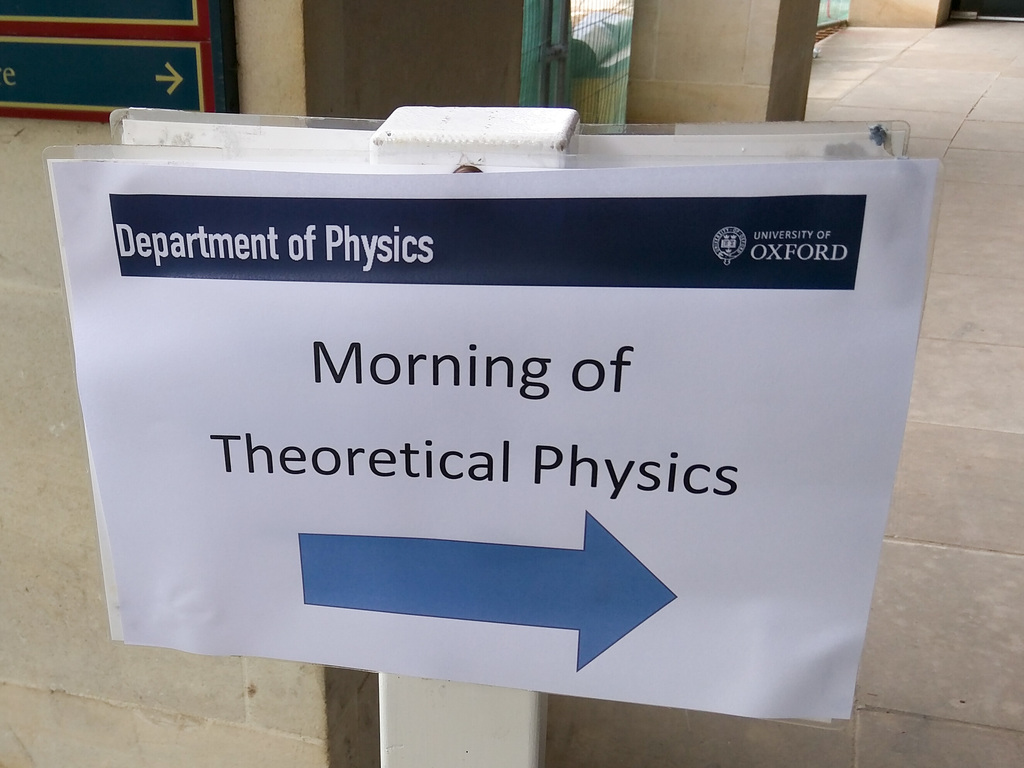 Morning of Theoretical Physics