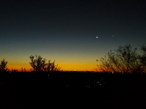 Moon and planets