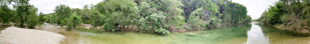 Barton Creek before the rain