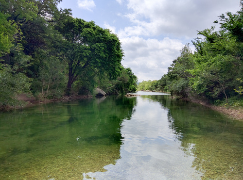 Barton Creek before the rain