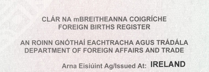 Foreign Births Register