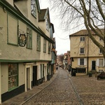 Cobbled street in Norwich