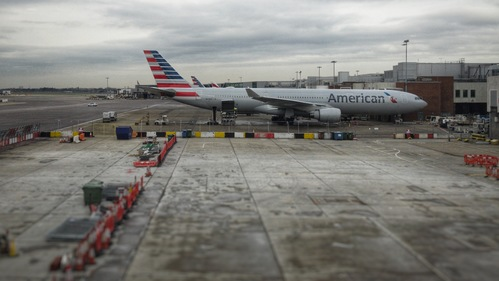 An American in Heathrow
