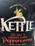 Sea salt & crushed black peppercorns