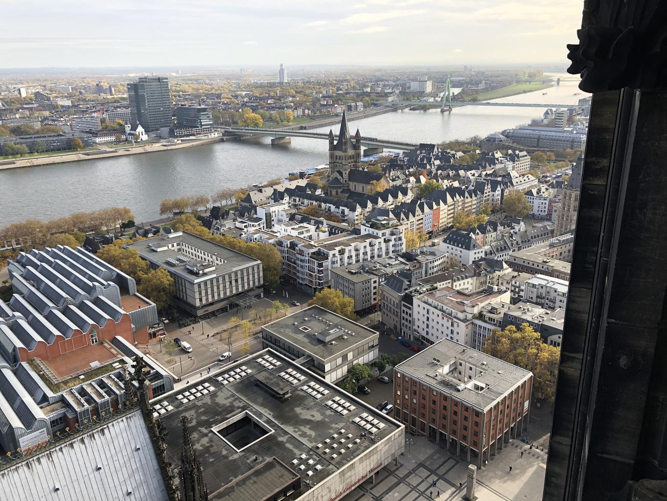 Cologne from the cathedral belfry