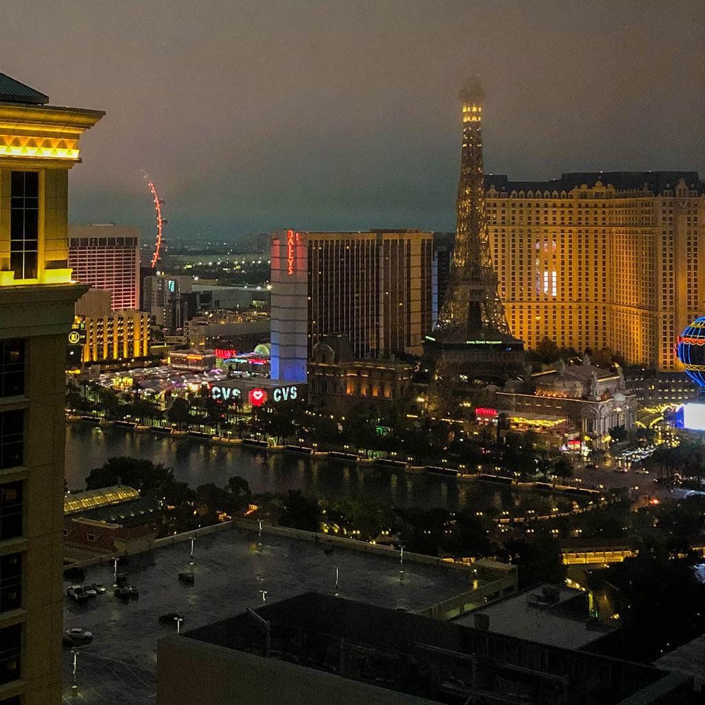 Misty Vegas evening