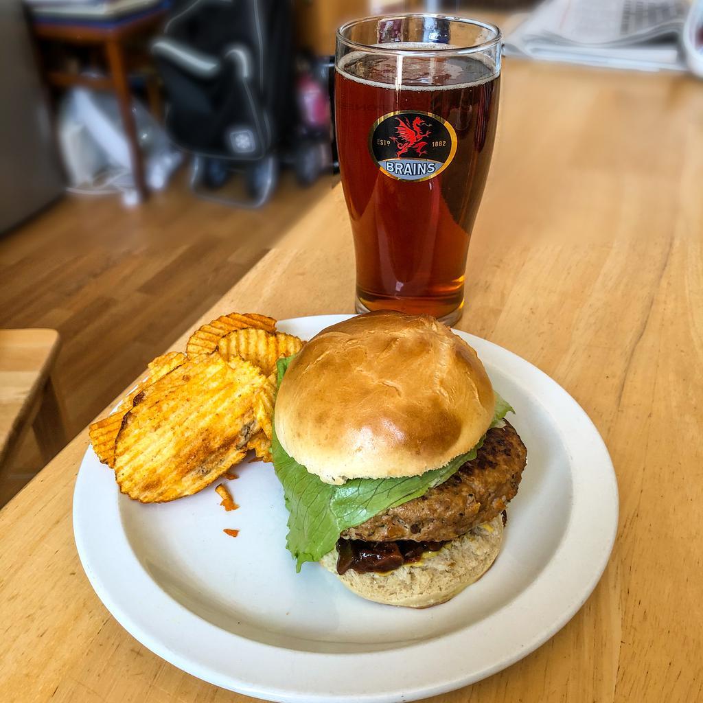 Turkey burger (on home made bun!)