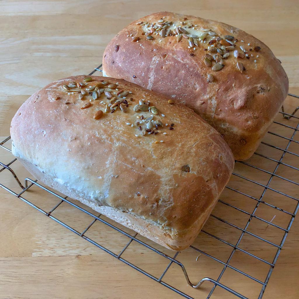 Twin seedy breads