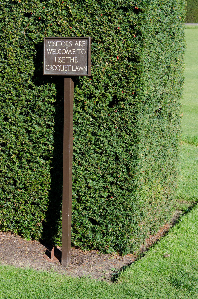 Visitors are welcome to use the croquet lawn